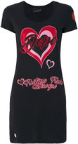 Philipp Plein heart print T-shirt - women - Cotton - XS