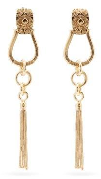 Etro Horseshoe Tasselled Drop Clip Earrings - Gold
