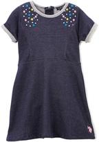 U.S. Polo Assn. Denim Star-Accent A-Line Dress - Infant Toddler & Girls