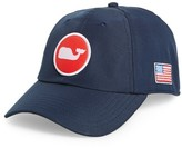 Vineyard Vines Men's Perf Classic Woven Whale Ball Cap - Blue