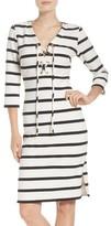 Eliza J Petite Women's Stripe Lace-Up Sheath Dress