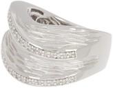 Effy Sterling Silver Pave Diamond Wave Ring - Size 7