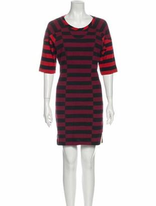 Isabel Marant Striped Mini Dress Red