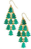 Carole Green Christmas Tree Drop Earrings