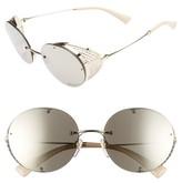 Valentino Garavani Women's Valentino 52Mm Round Sunglasses - Shiny Light Gold