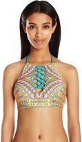 Trina Turk Women's Capri High Neck Bra Bikini Top