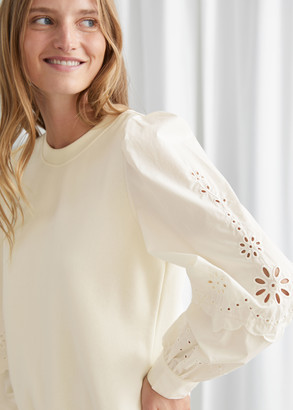 And other stories Embroidered Sleeve Sweater