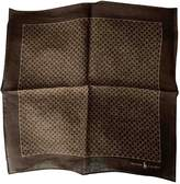 Polo Ralph Lauren Brown Linen Scarves & pocket squares