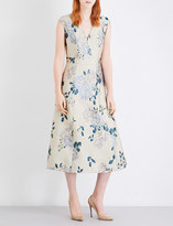 St. John Floral-jacquard dress