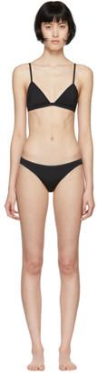 Haight Black Taping Triangle Bikini