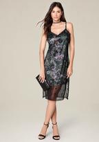 Bebe Embroidered Slip Dress
