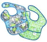 Bumkins Disney Baby Waterproof Super Bib, Monsters, 6-24 Months, 2 Count