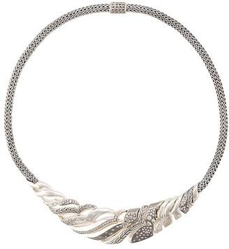 John Hardy Lahar diamond bib necklace