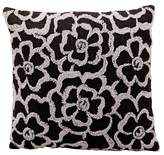 "Nourison Charcoal Flowers Throw Pillow (18""x18"")"
