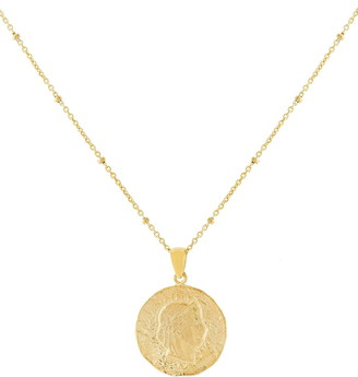 Adina's Jewels Coin Pendant Necklace