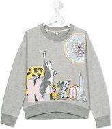 Kenzo logo print sweatshirt - kids - Cotton - 14 yrs