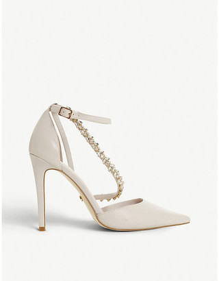 Dune Diazz embellished open-toe court shoes
