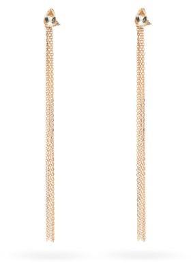 Mizuki Diamond, Topaz & 14kt Gold Fringe Earrings - Gold