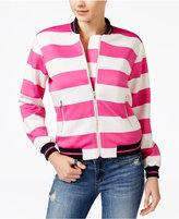 XOXO Juniors' Striped Bomber Jacket