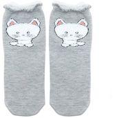 Forever 21 Fuzzy Cat Ruffle Socks