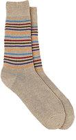 Barneys New York Men's Striped Cotton-Blend Mid-Calf Socks