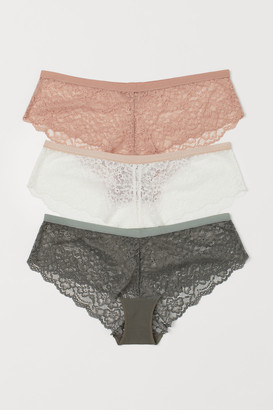 H&M 3-pack Lace Hipster Briefs