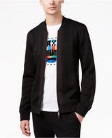 Armani Exchange Men's Quilted Jersey Full-Zip Sweater