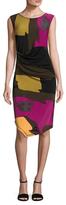Rachel Roy Asymmetrical Ruched Sheath Dress