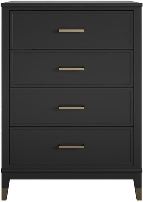CosmoLiving by Cosmopolitan Westerleigh 4 Drawer Chest - Black/Gold