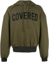 Juun.J Covered hoodie - men - Cotton - S