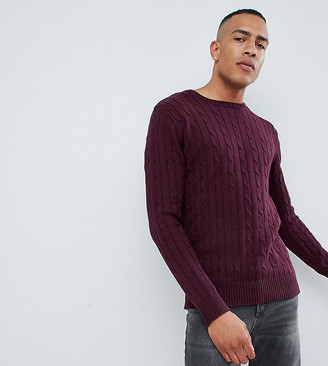 French Connection TALL 100% Cotton Logo Cable Knit Sweater