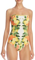Stella McCartney Citrus Bandeau One Piece Swimsuit