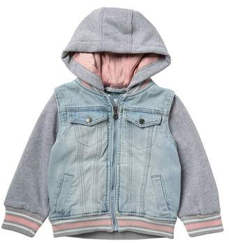 Urban Republic Denim Twofer Jacket (Toddler Girls)