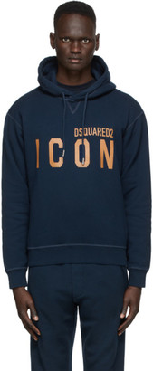 DSQUARED2 Navy Icon Hoodie