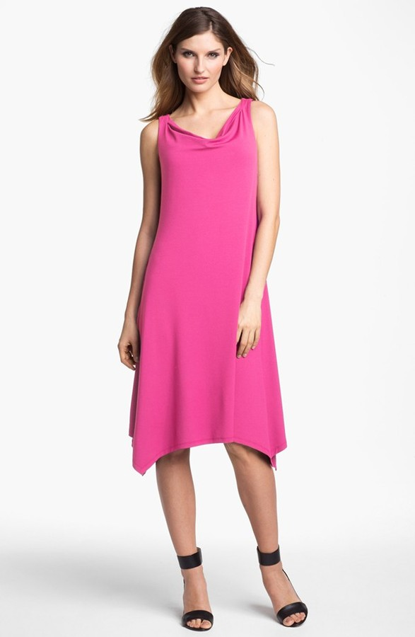 Eileen Fisher Cowl Neck Dress (Regular & Petite)