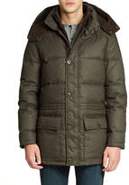 Vince Camuto Flannel Down Parka
