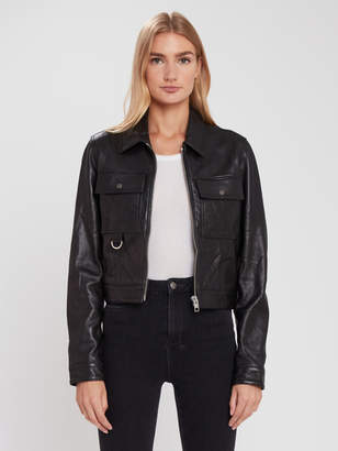 Ksubi Phantom Zip Leather Trucker Jacket