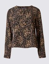 Marks and Spencer PETITE Printed Blouse with Tie
