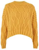 Topshop Cropped cable sweater