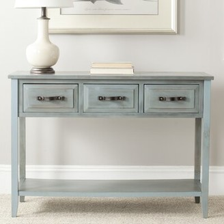 """Beachcrest Home Crystal River 42"""" Solid Wood Console Table Color: Barn Blue"""