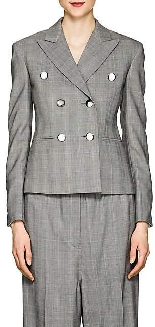 Calvin Klein Women's Glen Plaid Wool Crop Blazer
