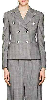 Calvin Klein Women's Glen Plaid Wool Crop Blazer