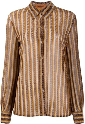 Missoni Metallic Stripe Shirt