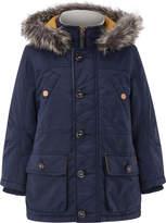 Monsoon Nat Navy Parka Coat