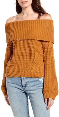 Lulus Carmichael Off the Shoulder Sweater