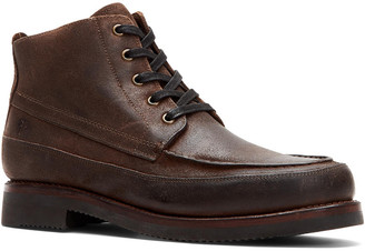 Frye Field Lace-Up Waxed Suede Boot