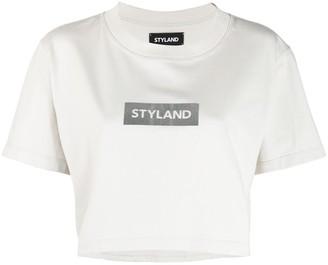 Styland logo print cropped T-shirt