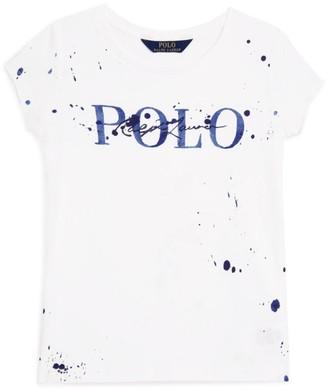 Ralph Lauren Kids Paint Splatter T-Shirt (2-4 Years)