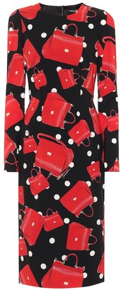 Dolce & Gabbana Sicily printed stretch silk dress
