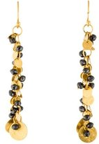 Gurhan 24K Black Diamond Bead Drop Earrings